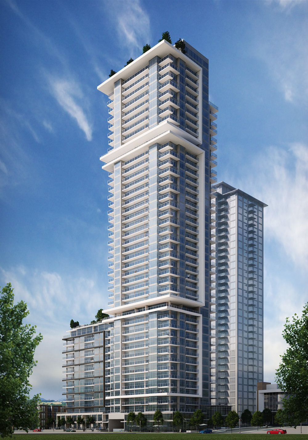 Rendering Highrise Tower Surrey
