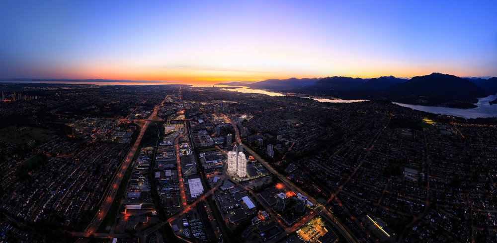 Etoile Burnaby Highrise Aerial