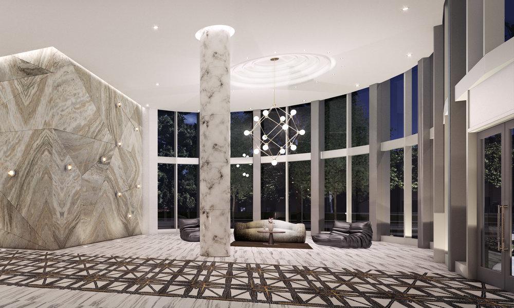 Etoile Burnaby Interior Lobby Rendering