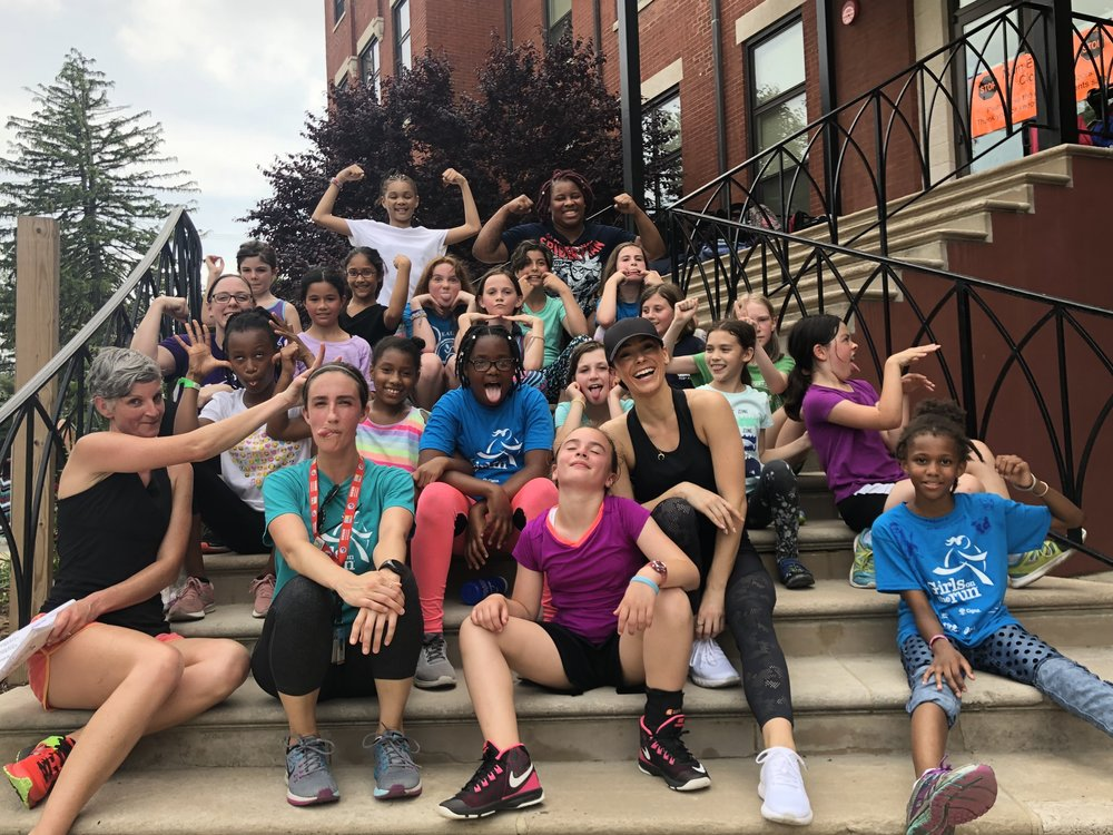 Gave a classroom talk to young girls of Girls on The Run non-profit about how to push yourself mentally through what your body is doing physically. Then we did a practice run for their 5K together.