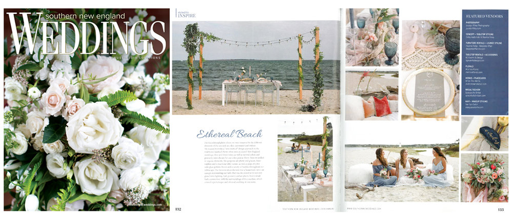 Southern New England Weddings, Ethereal Beach  2018