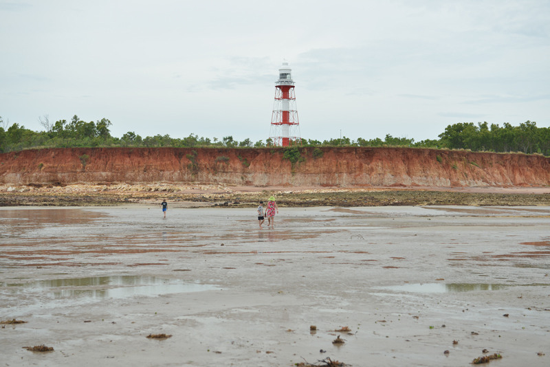 Point Charles Light on a low tide