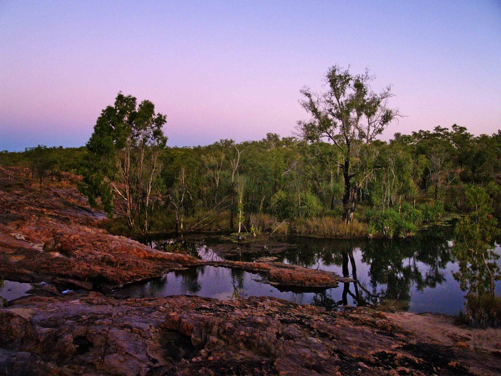 As the sun began to descend were treated to a spectacular sunset reflected in Sandy Camp Billabong