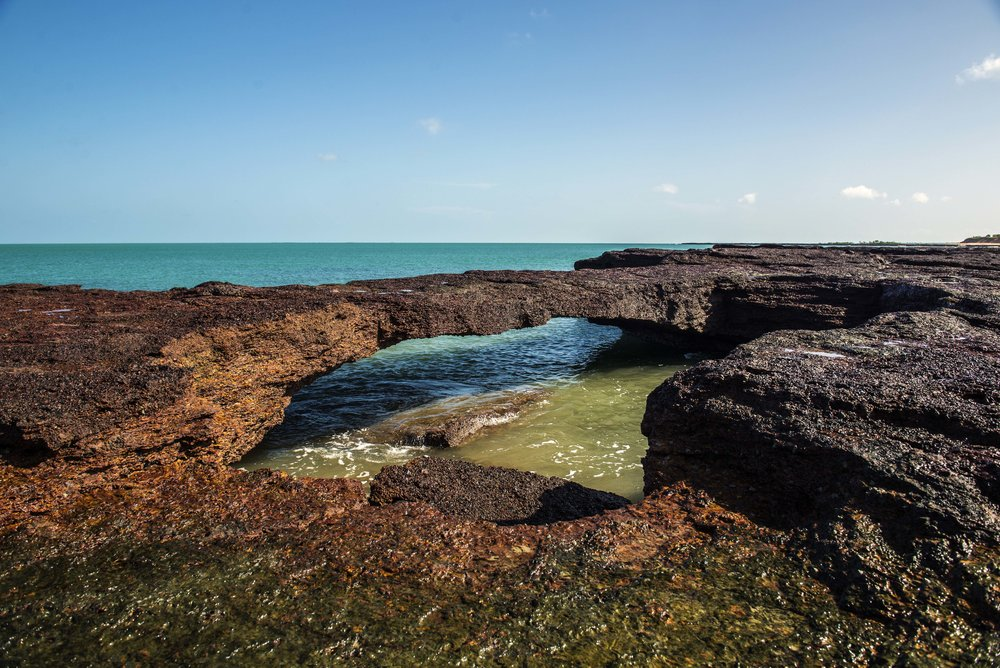 An interesting rock formation that has formed a large natural tidal pool