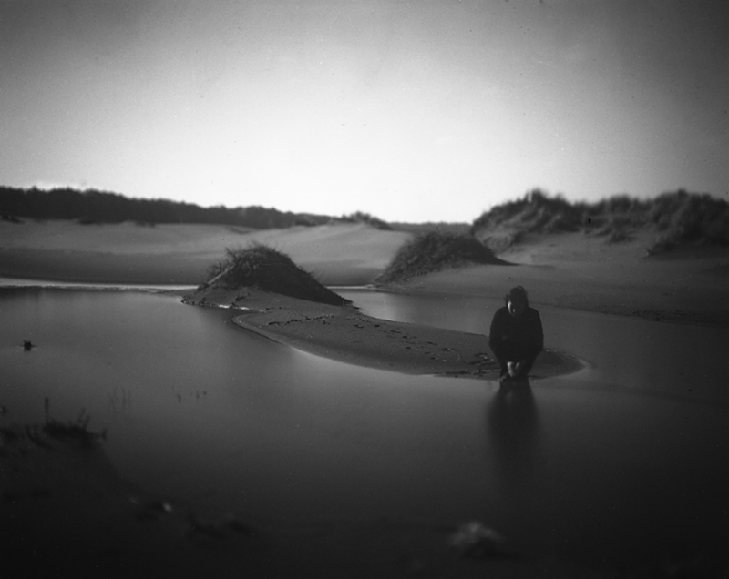 Moon Dunes, Winter,    4x5 photograph
