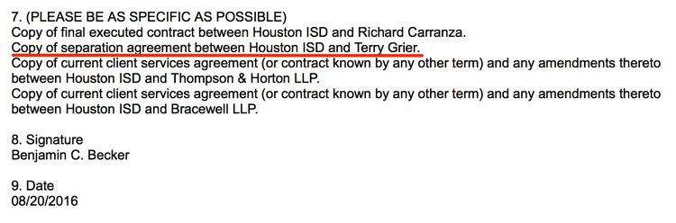 Board Voted On Grier Bonus/Separation Agreement; Hisd Legal