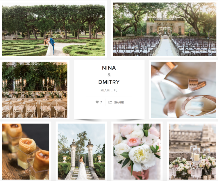 "Check out Nina and Dmitry's wedding on ""Carats & Cake."""