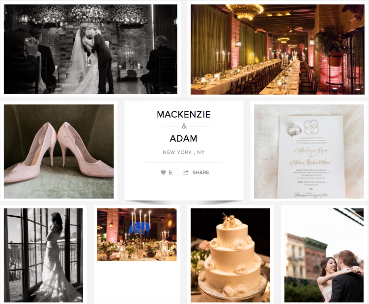 "Check out Mackenzie and Adam's wedding on ""Carats & Cake."""