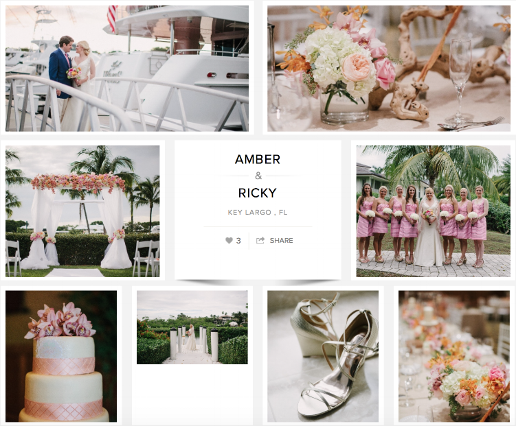"Check out Amber & Ricky's wedding on ""Carats & Cake."""
