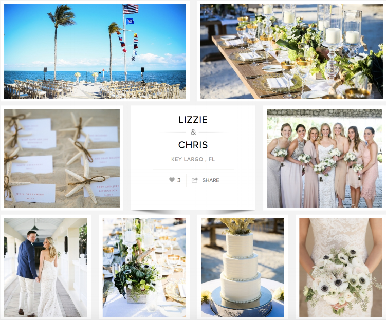 "Check out Lizzie and Chris's wedding on ""Carats & Cake."""