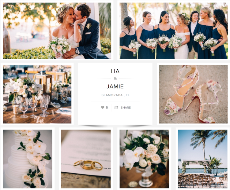 "Check out Lia and Jamie's wedding on ""Carats & Cake."""