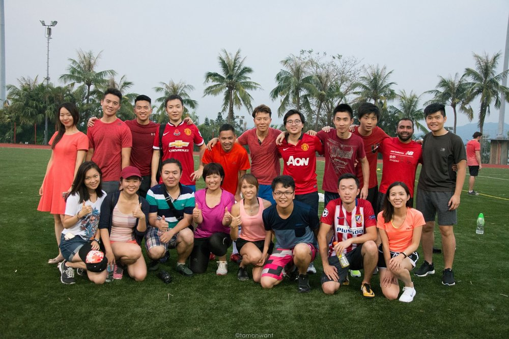 Team Hong Kong & China with some of their fans