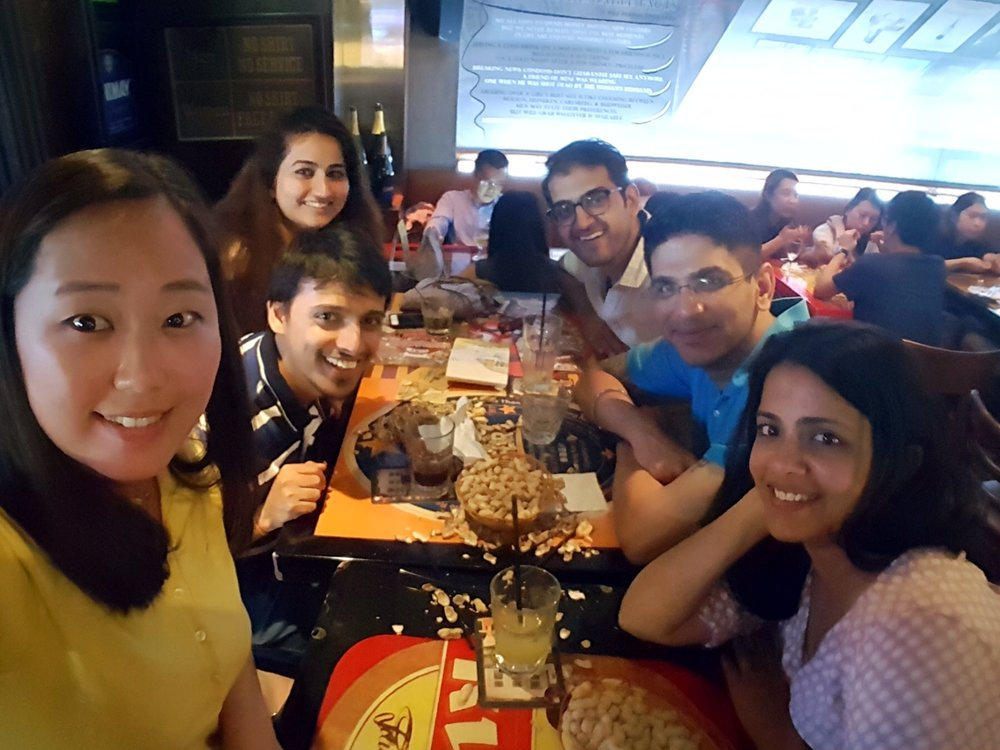 3 am in LFK. Left to right: Eunice, Ayush, Mehak, Usman, Arjun, Mandakini. Note: LKF is short for Lan Kwai Fong, synonymous for where all the cool MBA students hang out (every weekend!)