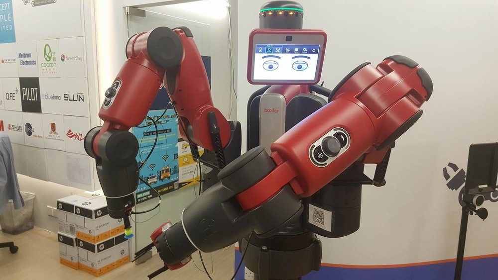 Baxter, your friendly neighborhood robot at the HK Science Park