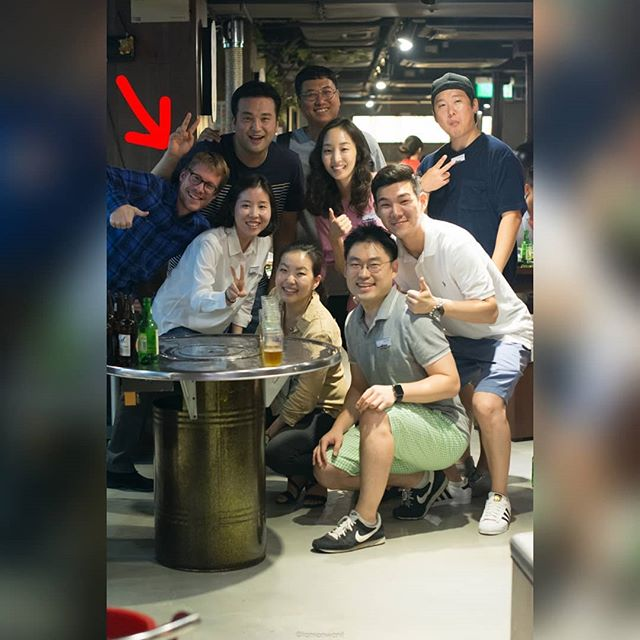 Spot a spy in Korean night. . . . It was a very good korean bbq place in CWB. Can't remember the name 😂  I wish I could post more pictures but feel like those pics are better kept in the shared drive lol  #tb #Sep17 #koreansquad #korean #koreaclub #mUSThaveMBA #intake2017 #HKUSTMBA