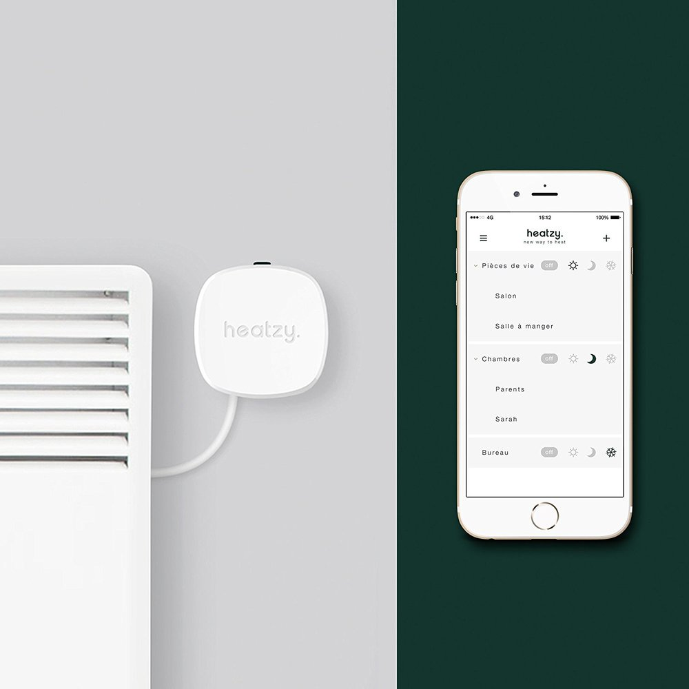 Module Heatzy et application smartphone
