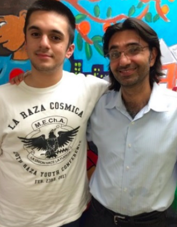 Bahram with our summer Research Intern, Mauro, a former Youth for Environmental Justice member.