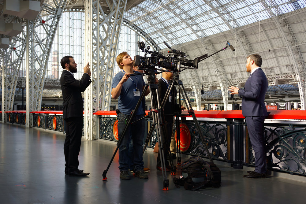 Filming a Samsung executive at RBTE