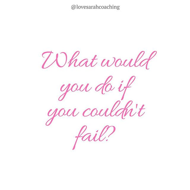 Imagine that you KNEW 100% that you were destined for success. That you had a guarantee that you wouldn't fail. ⠀ ⠀ Would you be doing the same things today, or would your actions be different? Answering this question helps you to realise if you're letting fear hold you back from pursuing your REAL dreams. ⠀ ⠀ Are you thinking too small? ⠀ ⠀ Because here's the thing: success can never be guaranteed, but failure isn't either! How will you ever know until you give it a try!? ⠀ ⠀ So let me know in the comments: Is fear holding you back?