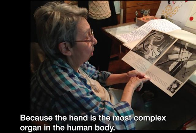 "Here's a lovely observation from artist Geta Bratescu, for anyone who's as fascinated by hands as me. One for you @sarahmaystudios ""... the hand is the most complex organ in the human body, but it is not as ostentatious as the face..."" #getabratescu #hands #humanbody"