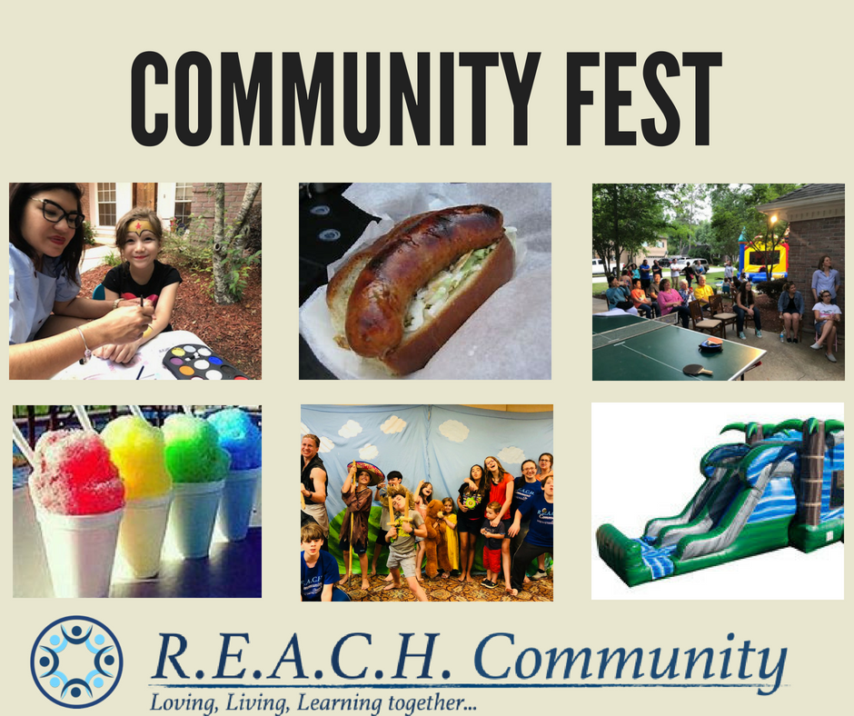 June 23, 2018 REACH Community hosted an outreach in Bush, LA. Our monthly free community fests are in full swing with the purpose of sharing the love of Christ and creating opportunities for community.   Event sponsorship app. $1,000.     We are also seeking sponsors to purchase our own trailer, tent, chairs, bouncy, generator and music equipment set for these monthly events. App. $10,000