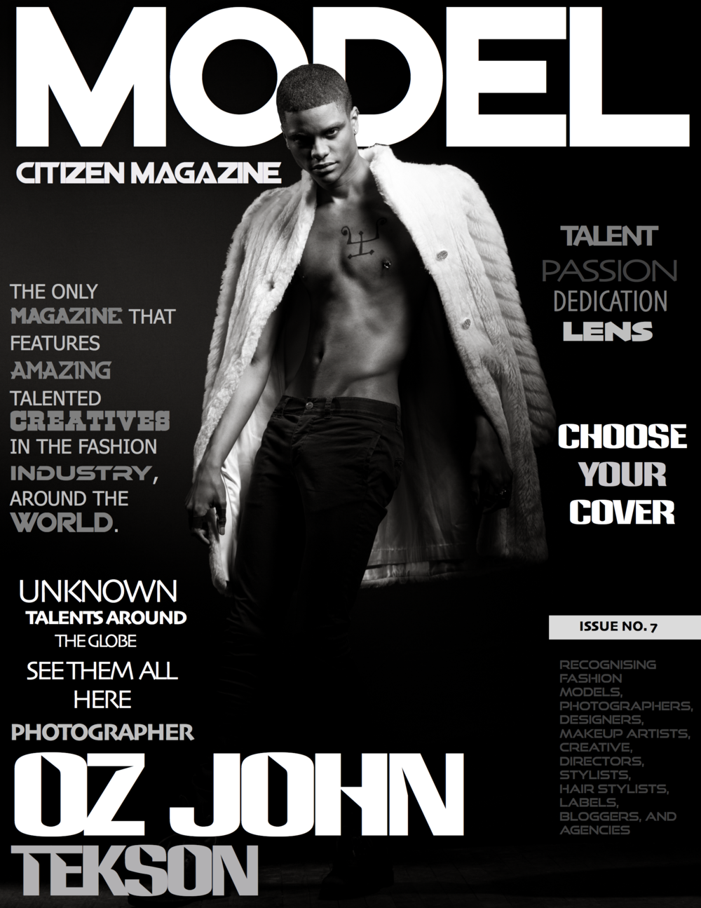 OZ John Tekson, Model Citizen Magazine