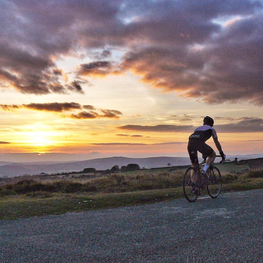 Dartmoor Cycling Sunset