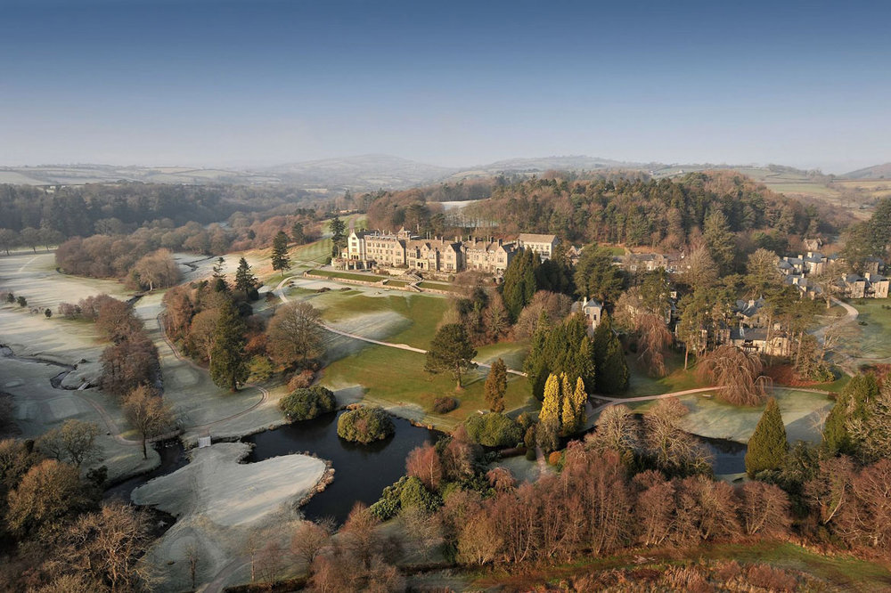 Bovey Castle in the Frost