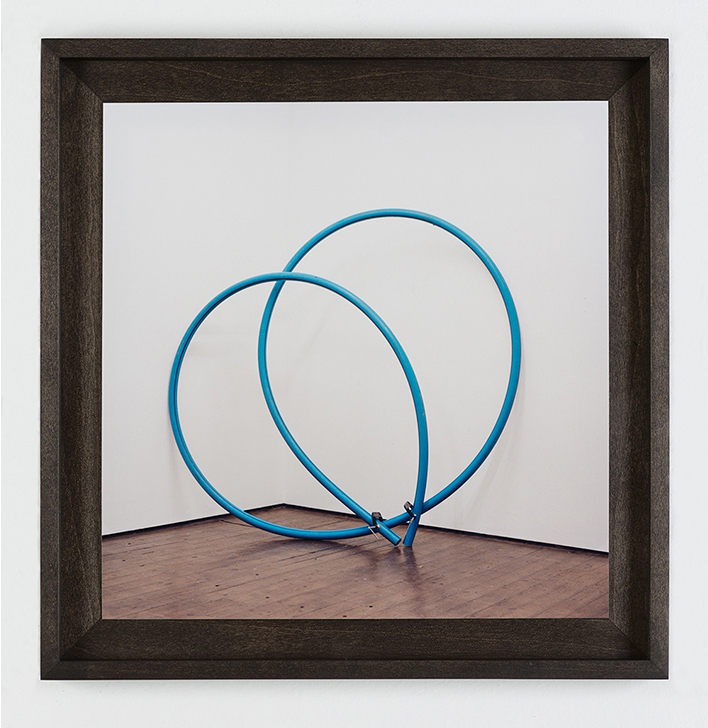 W) Blue Loop Handprinted C-Type Print. Oak box-frame Seventeen Gallery 2012