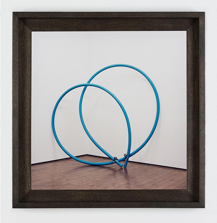 W) Blue Loop Handprinted C-Type Print. Oak box-frame Seventeen Gallery 2012