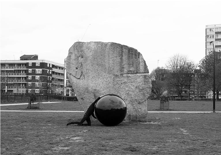 X) Black Marble, London April 2016 Framed Black & White Photograph