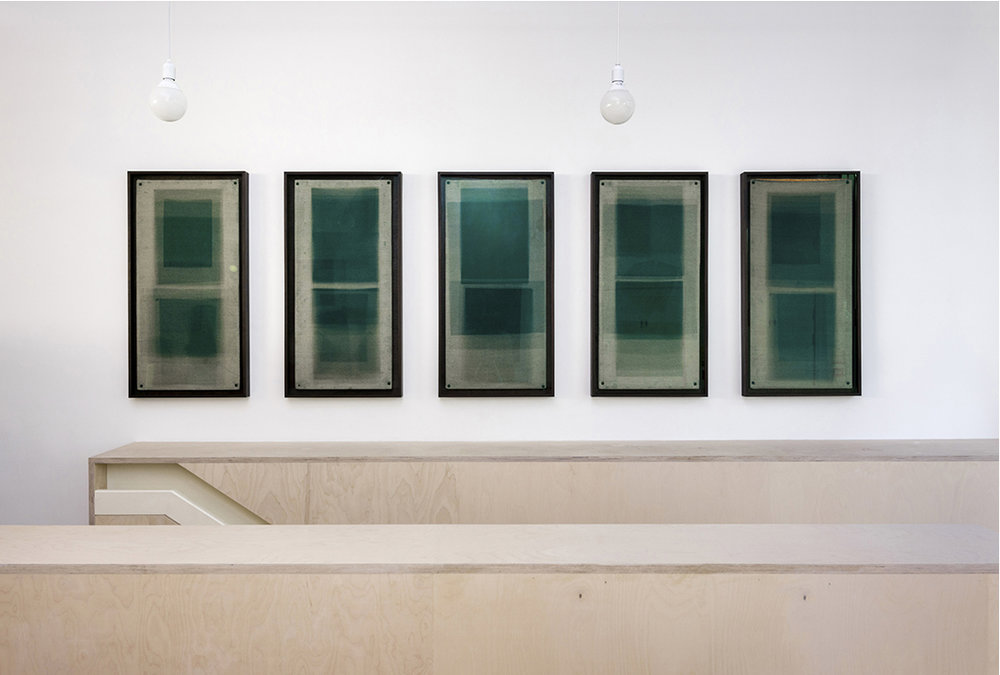 Forms in Green, Hackney Installation View, Contemporary Art Society, London, 2014
