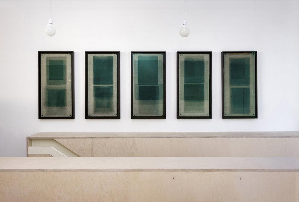 I) Forms in Green, Hackney Installation View, Contemporary Art Society, London, 2014