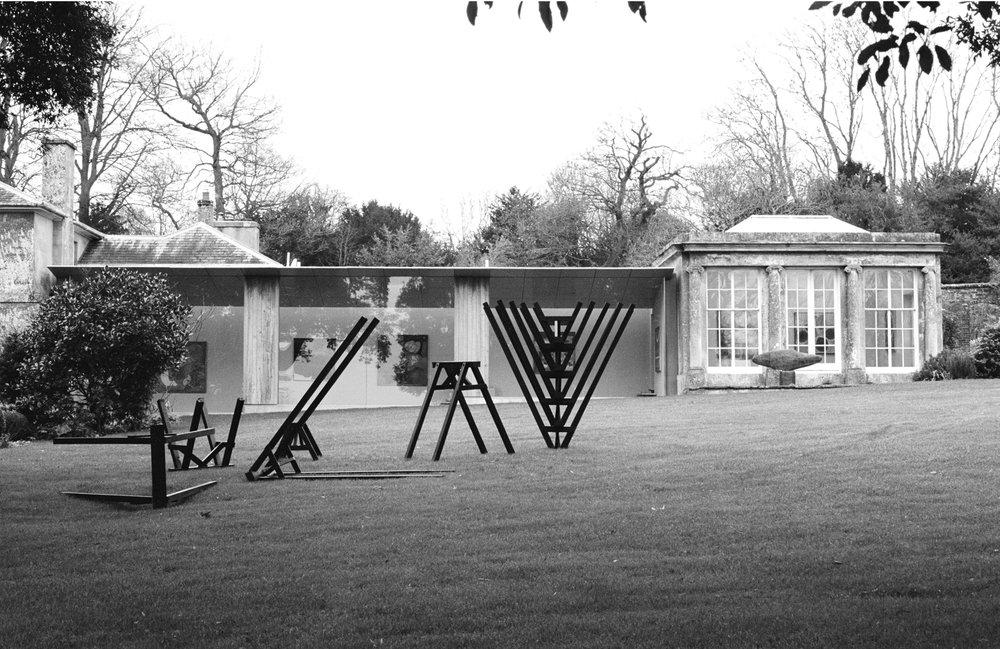 E) New Art Centre Brace, Brace ash sculpture New Art Centre, Roche Court, Salisbury 2015