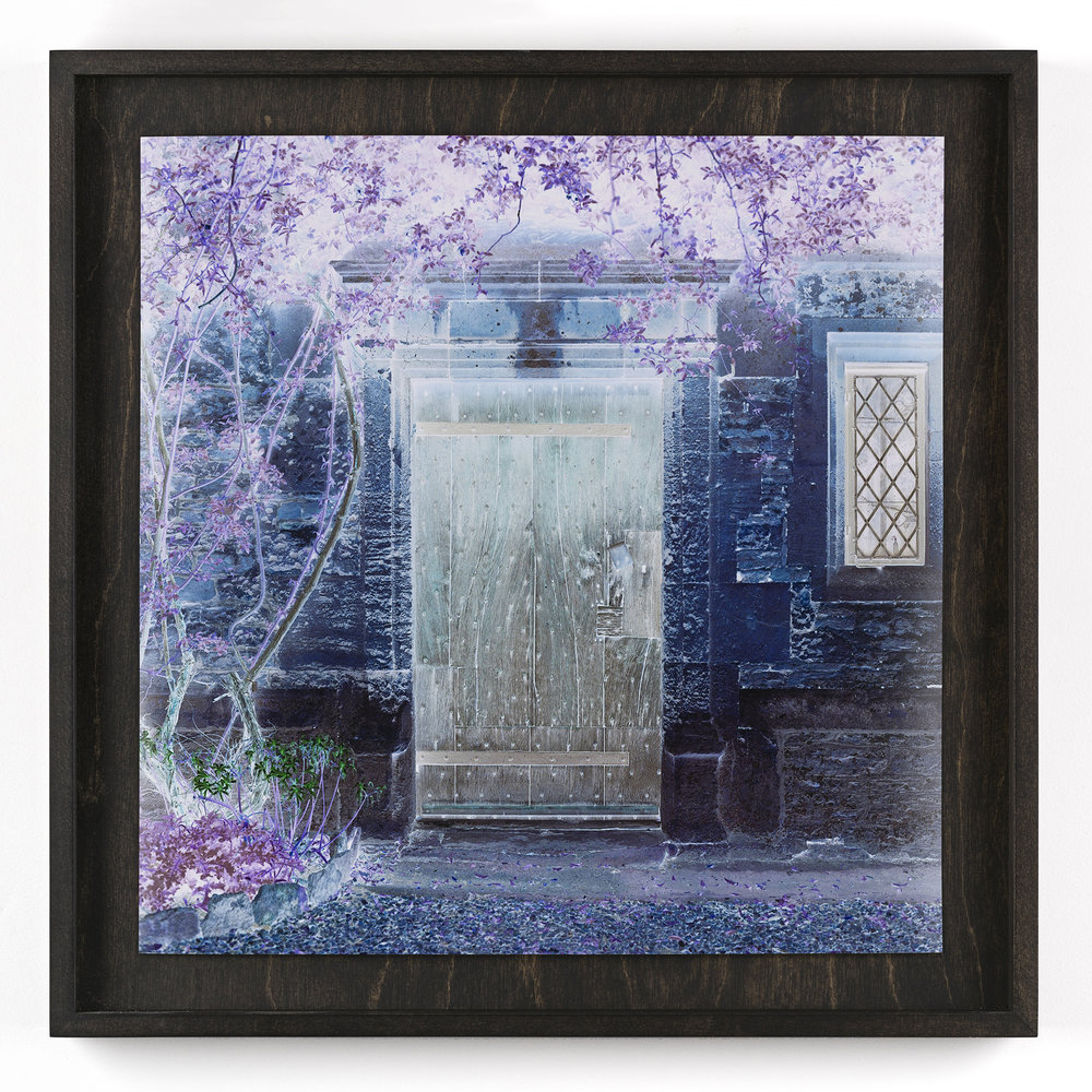 The Open Door, Closed and Inverted      Framed C-Type Print. 2015