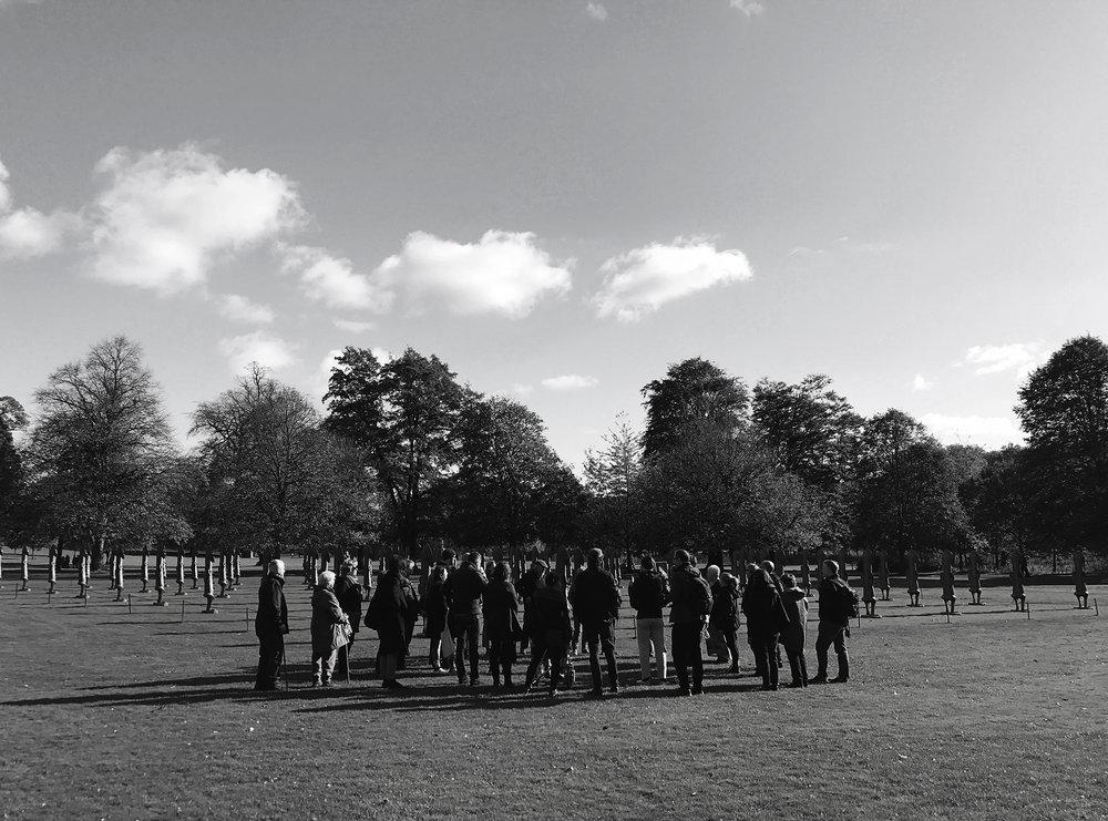 Walking Performance, Heritage Tour. Tom Lovelace & Richard Flowerday  Yorkshire Sculpture Park  November 2017