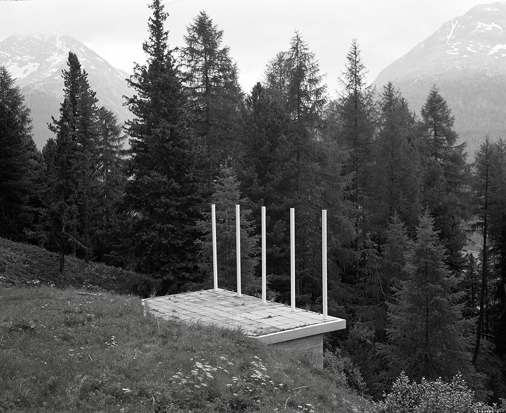 Platform at Pontresina   Installation, Switzerland  2015
