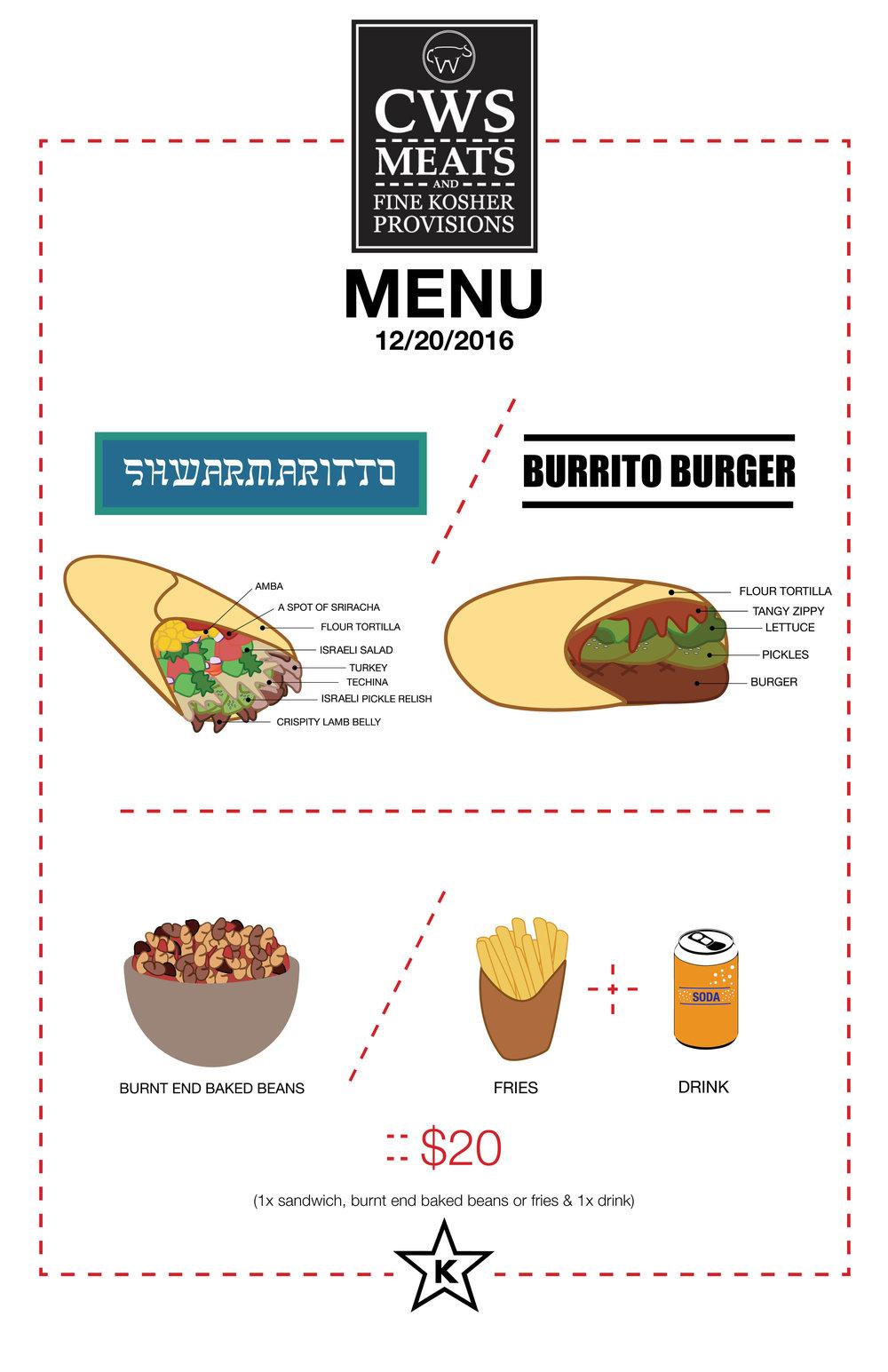 CWS menu 1/20