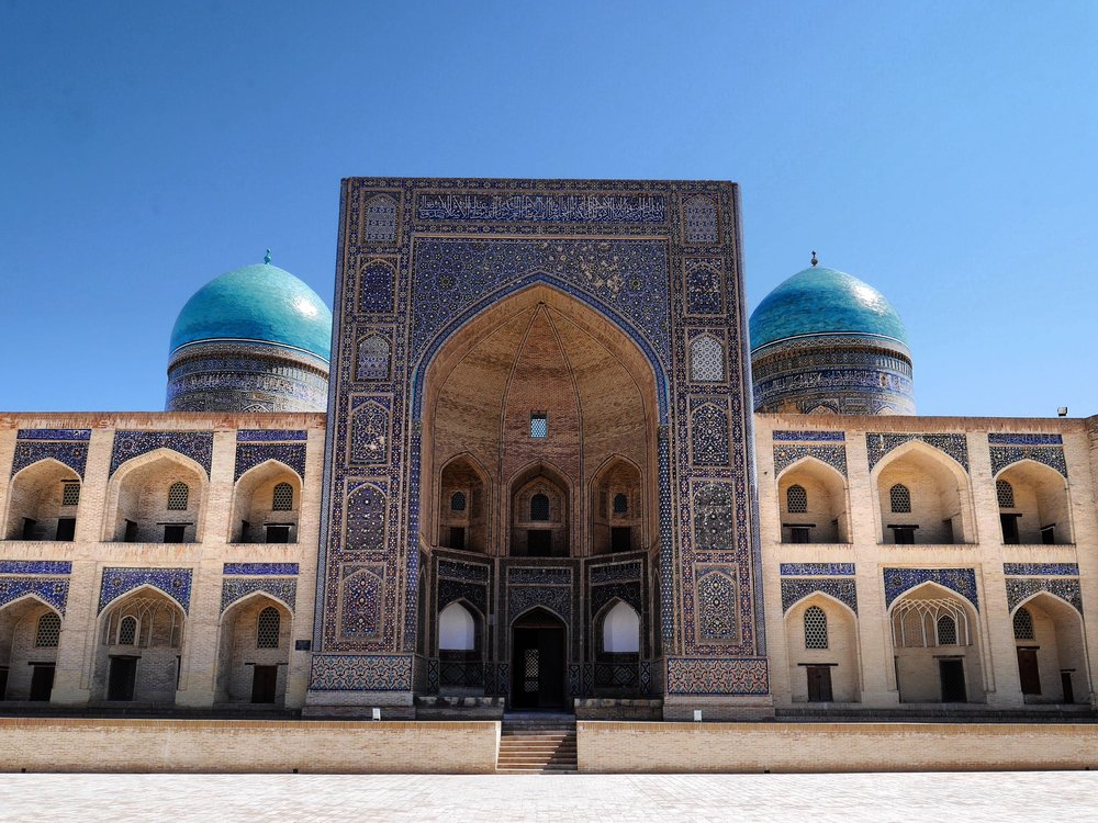 A perfect example of beautiful Islamic architecture in Bukhara.