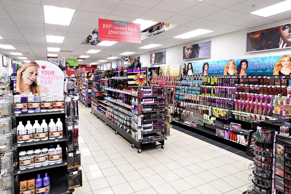 Retail panterra construction for Salon equipment and supplies