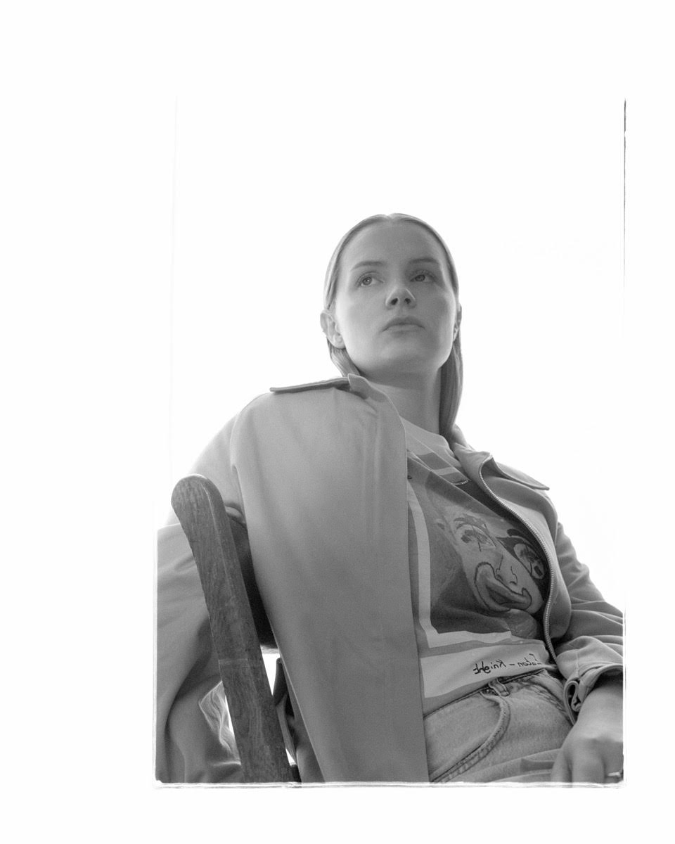 Canadian singer Charlotte Day Wilson wears the Raglan Sleeve Trench for  The Last Magazine