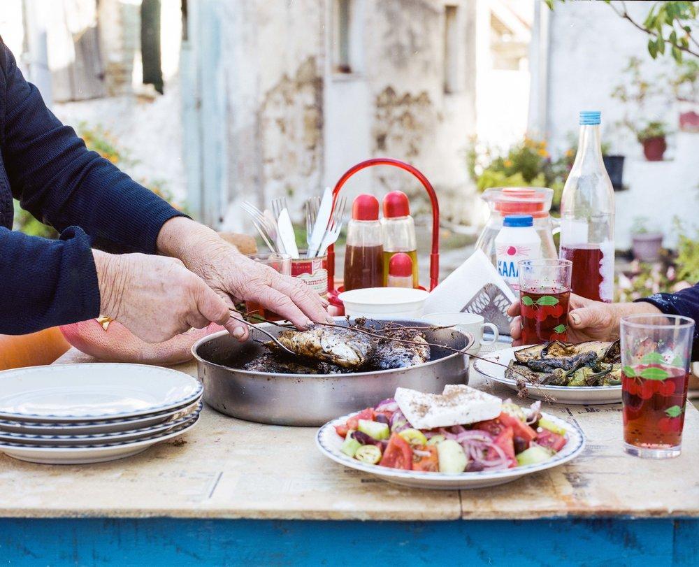 Yiayia - Greek Marinated Seabass + Skordalia