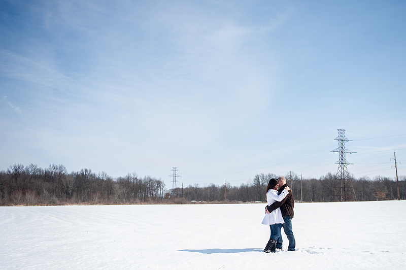 Engagement Session Snow