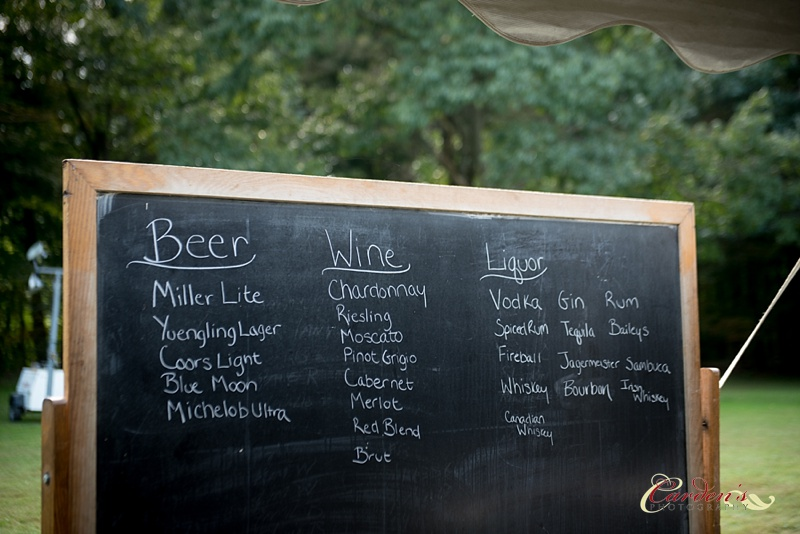 This chalkboard was such a great idea for displaying the drinks available