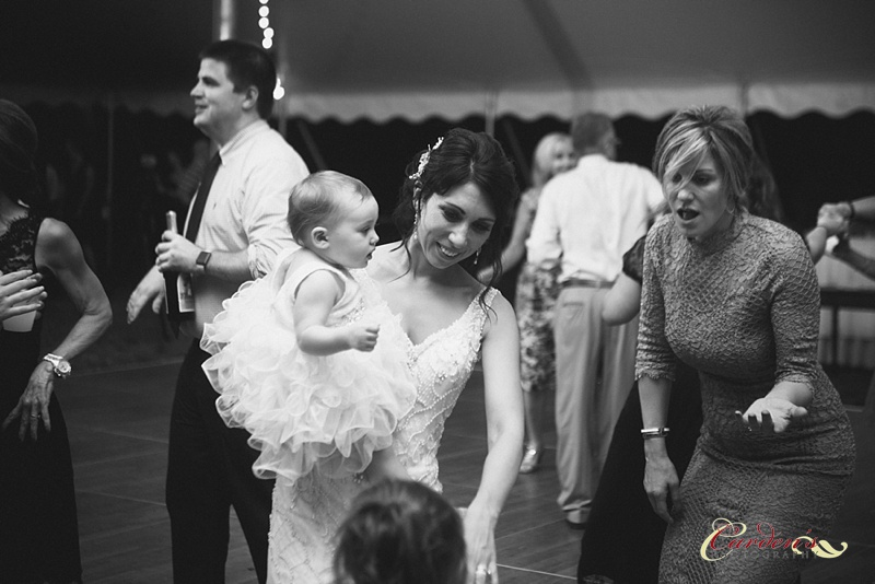 Stef dancing with her adorable daughter!