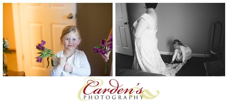 Cutest flower girl!  She was all about helping Kelley and being a part of everything,
