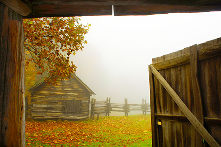 Hensley Settlement   In 1903, the Hensley family settled atop Brush Mountain, forsaking settled areas for an entirely self-sufficient way of life. This truly rural Appalachian settlement continued, without electricity, indoor plumbing, roads or any modern conveniences until the last inhabitant left in 1951. Approximately 25 of the original buildings have been restored and the surrounding land has been returned to the original farming and pasture scene of its original appearance.
