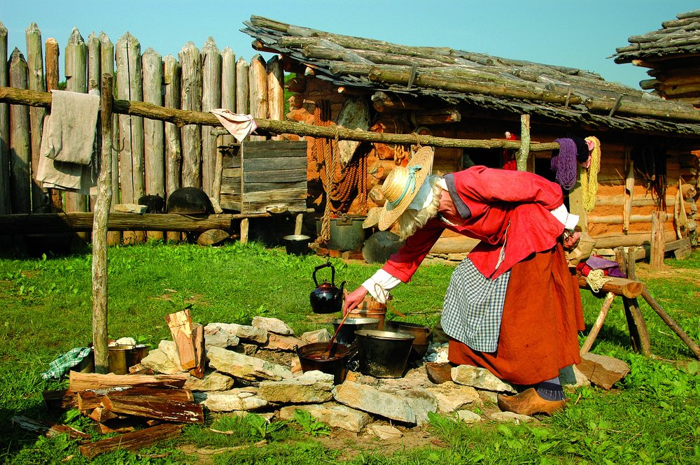 Historic Martin's Station Wilderness Road State Park  Historic Martin's Station is an outdoor living history museum at Wilderness Road State Park featuring the most authentically re-constructed frontier fort in America. Virginia's frontier comes alive with costumed interpreters providing demonstrations depicting life in colonial America. And as you leave this small frontier settlement, you may find yourself looking back one last time, and you will soon realize that not only have you touched history, history has touched you!