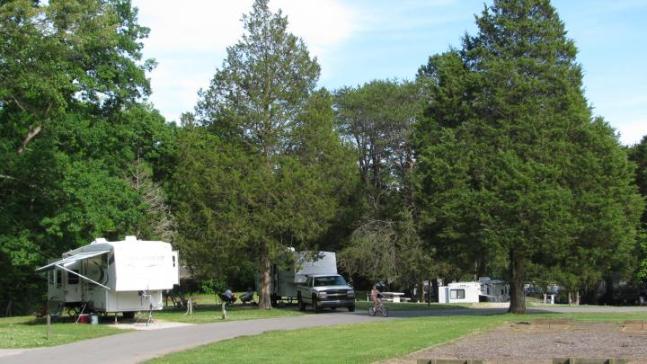 Cove Lake Campground, Cove Lake State Park Rates: $24Taxes and fees are not included. Rates subject to change. $5 reservation fee per site is non-refundable. Cove Lake has 106 campsites. All sites are equipped with water and electrical hookups, and most with grills and tables. A dump station is available, as are two modern bathhouses containing hot showers, commodes, and lavatories. Stay limit is two weeks. Tents are allowed on all the campsites.  Note Campers: After 4:30 PM ET, please call 423-494-0806 instead of the park office. http://tnstateparks.com/parks/campground/cove-lake