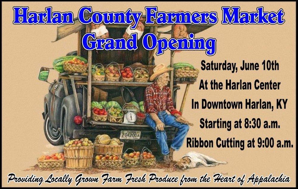 Harlan County Farmers Market  201 S. Main St, Harlan, Kentucky 40831